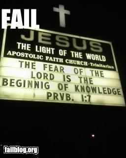 Church sign fail